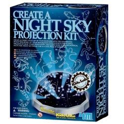 4M halvkugleprojektor med nattehimmel