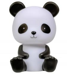 A Little Lovely Company Natlampe - Panda - 19 cm - Sort/Hvid