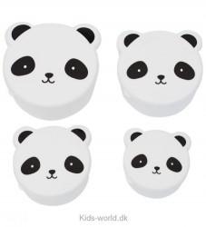 A Little Lovely Company Snackboks - 4 dele - Hvid m. Panda