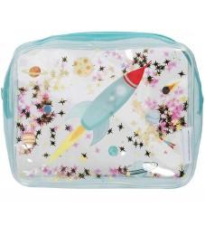 A Little Lovely Company Toilettaske - Glitter - Space