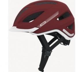 Abus Pedelec cykelhjelm - Str. 56-62 cm - Matrød - Integreret regnslag