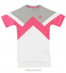 adidas Originals Kjole - Sweat - Hvid/Pink/Gråmeleret