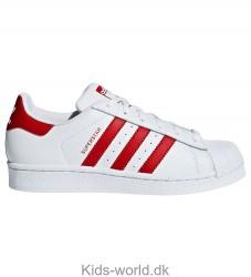 adidas Originals Sko - Superstar - Hvid/Scarlet