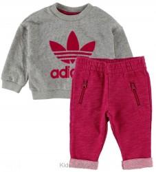 adidas Originals Sweatsæt - Gråmeleret/Pink
