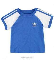 adidas Originals T-shirt - Blå/Hvid m. Striber