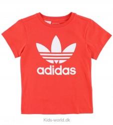 adidas Originals T-shirt - Koralrød m. Logo