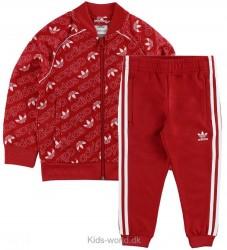 adidas Originals Træningssæt - Rød m. Allover Logo