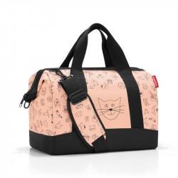 Allrounder taske med katte og hunde Rosa
