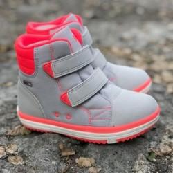 Alternativ til gummistøvler - med god støtte, softgrey / neon pink