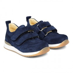 ANGULUS Begynder Sneaker m. Velcro - Navy