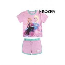 Anna og Elsa Frozen Heart Sæt med t-shirt og shorts