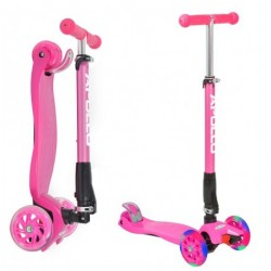 Apollo Trehjulet Løbehjul Whiz LED - Pink - 2 -12 år