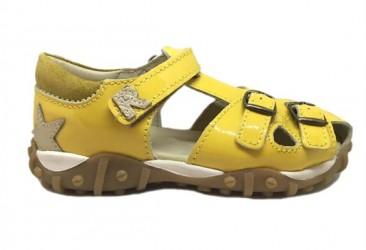 Arautorap (RAP) sandal med lukket hæl, gul lak