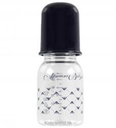 Armani Baby Sutteflaske - Plast/Silikone - 125 ml - Navy
