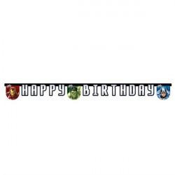 Avengers Multi Heroes Fødselsdag Banner