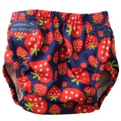 Baby badebukser fra Konfidence - one size fits all - Strawberry