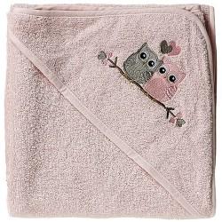 Baby Dan babyhåndklæde - Love Birds - Rosa