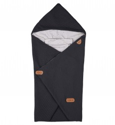 Baby Wrap fra Voksi - Quilted Dark Grey Star