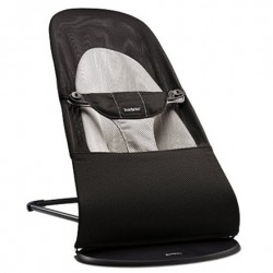 Babybjørn Bouncer Balance Soft - Sort/Grå, mesh