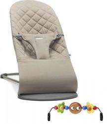 Babybjörn Skråstol Bliss m Legetøj - Sandgrå