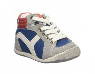 BabyBotte drenge sneakers Funambule, snøresko, blå