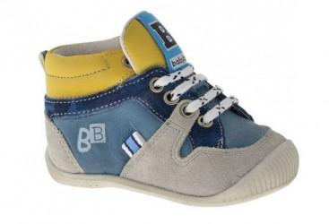 BabyBotte drengesko Fun, snøresko, blå/gul