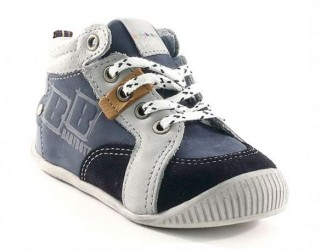 BabyBotte drengsko Filou, snøresko, blå/grå