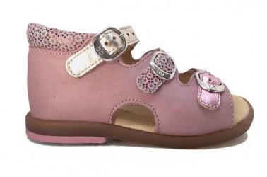 BabyBotte sandal Tik, rosa/guld