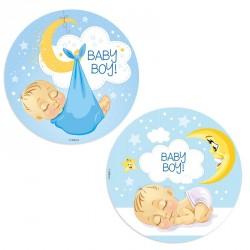 Babyboy kageprint, babyslynge, Ø 20 cm