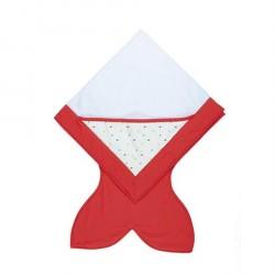 Babyhåndklæde med hætte Rød