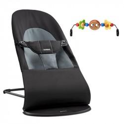 Babysitterpakke, Balance Soft Babysitter, Sort/Grå + Trælegetøj