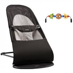 Babysitterpakke, Balance Soft Babysitter, Sort/Grå Mesh + Trælegetøj