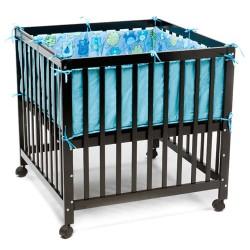 BabyTrold kravlegård med hjul - Sort