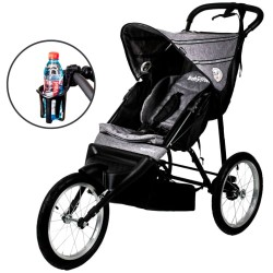 BabyTrold løbevogn inkl. kopholder - Jogger - Grå