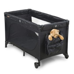 BabyTrold weekendseng med opbevaringstaske - Sort