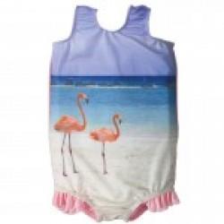Badedragt fra Splash About (SPF 50+) - Funky Flamingo