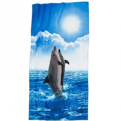 Badelagen 75 x 150 cm Delfin