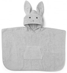 Badeponcho fra Liewood - Orla - Rabbit Dumbo Grey