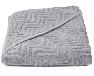 Badeslag fra Filibabba - Økologisk - Zigzag - Grey (100x100)