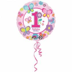 Ballon - Folie - 1st Birthday Girl (43cm)