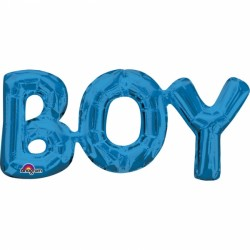 Ballon - Folie - Blue - Boy (50x22cm)