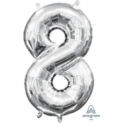 Ballon - Folie - Mini Shape - Silver - 20x35cm - 8