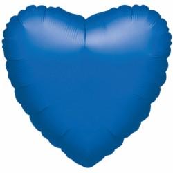 Ballon - Folie - SuperShape - Metallic Blue - Heart (43cm)