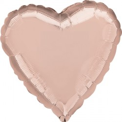 Ballon - Folie - SuperShape - Rose Gold - Heart (43cm)