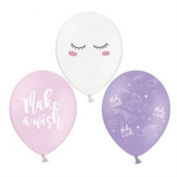 Balloner Enhjørning Make a wish 50 stk