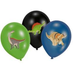 Balloner - Happy Dinosaur (6 stk)