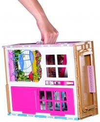 Barbie Møbleret Barbiehus i 2 Etager- Multi