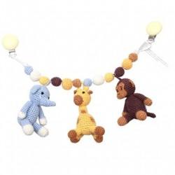Barnevognskæde Abe, Giraf og Elefant - NatureZoo