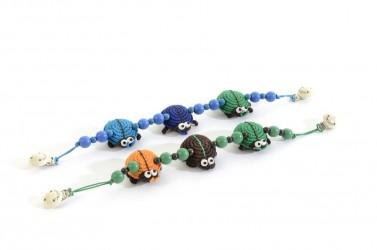 Barnevognskæde fra Smallstuff - Bugs - Grøn, turkis, blå