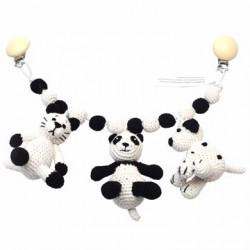 Barnevognskæde Kat, Panda, Hund fra NatureZoo
